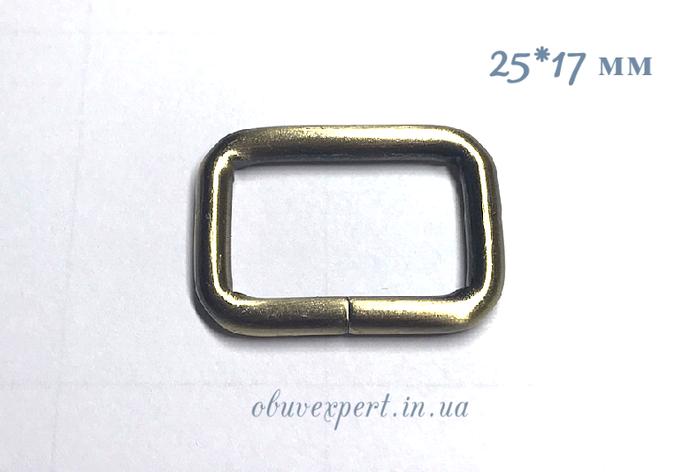 Рамка дротова 25*17 мм, товщ. 4 мм Тертий антик, фото 2