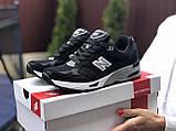 Женские кроссовки New Balance 991,черно-белые, фото 2