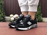 Женские кроссовки New Balance 991,черно-белые, фото 3