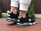 Женские кроссовки New Balance 991,черно-белые, фото 4