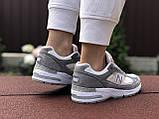 Женские кроссовки New Balance 991,серые с белым, фото 4
