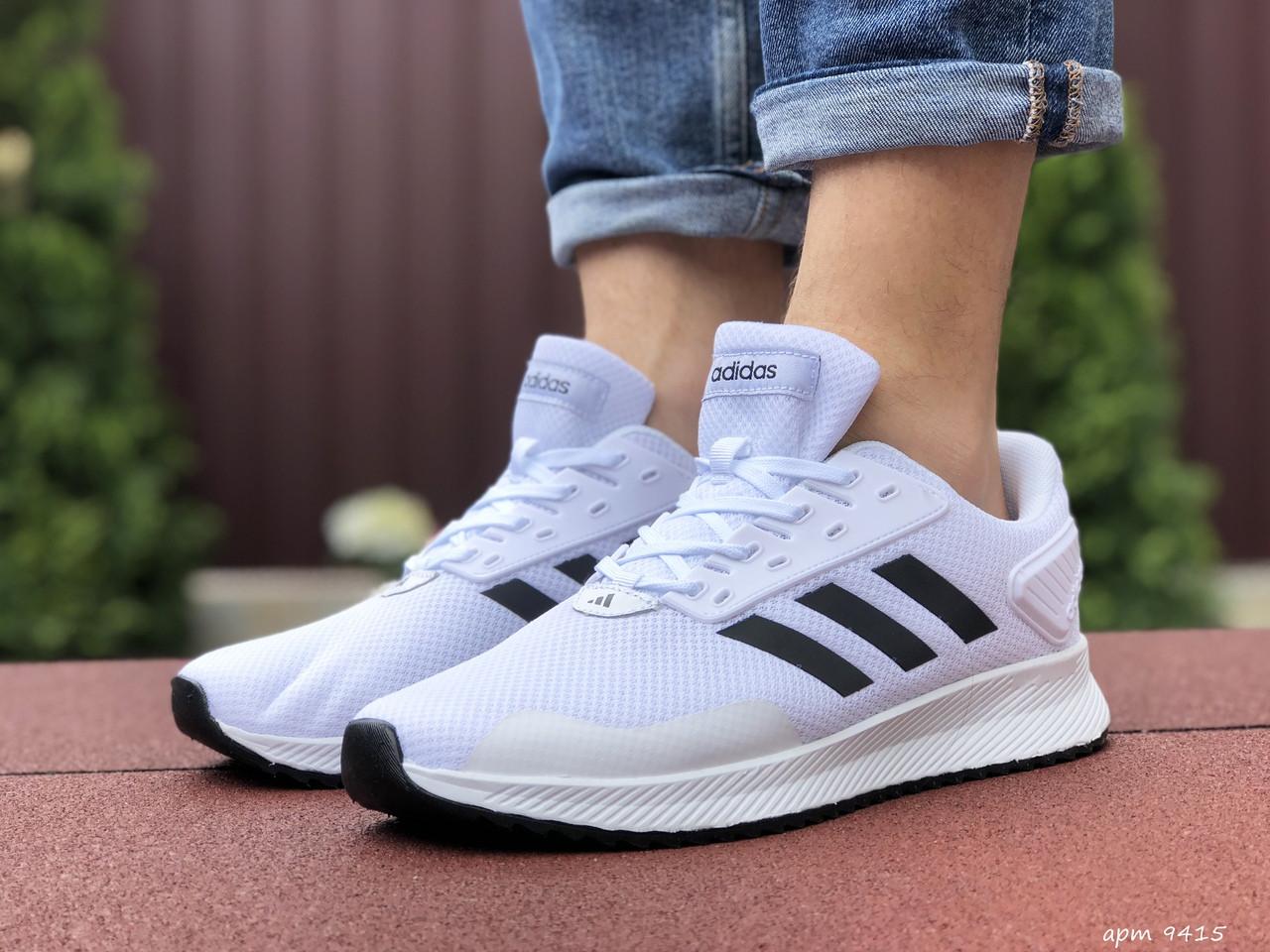 Мужские летние кроссовки Adidas,сетка,белые