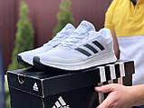 Мужские летние кроссовки Adidas,сетка,белые, фото 3