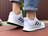 Мужские летние кроссовки Adidas,сетка,белые, фото 4
