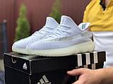 Модные мужские кроссовки Adidas x Yeezy Boost,белые, фото 3