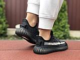 Модные кроссовки Adidas x Yeezy Boost,черные с серым, фото 3