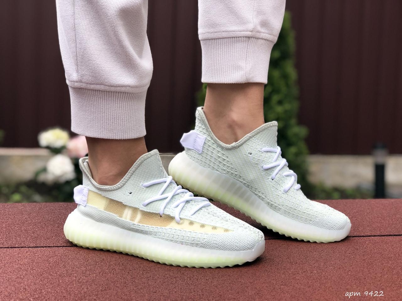 Модные кроссовки Adidas x Yeezy Boost,ментоловые