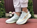 Модные кроссовки Adidas x Yeezy Boost,ментоловые, фото 4