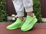 Модные кроссовки Adidas x Yeezy Boost,салатовые, фото 2