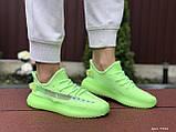 Модные кроссовки Adidas x Yeezy Boost,салатовые, фото 3