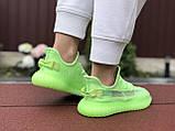 Модные кроссовки Adidas x Yeezy Boost,салатовые, фото 4