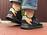 Мужские кроссовки Adidas Nite Jogger Boost 3M,черные с оранжевым, фото 3