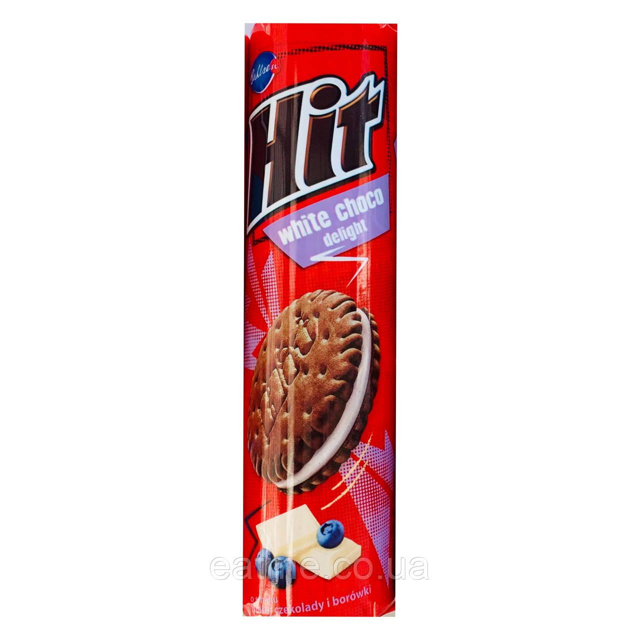 Hit Шоколадное печенье с начинкой из белого шоколада и голубики