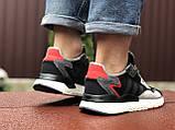 Мужские кроссовки Adidas Nite Jogger Boost 3M,черно белые, фото 4