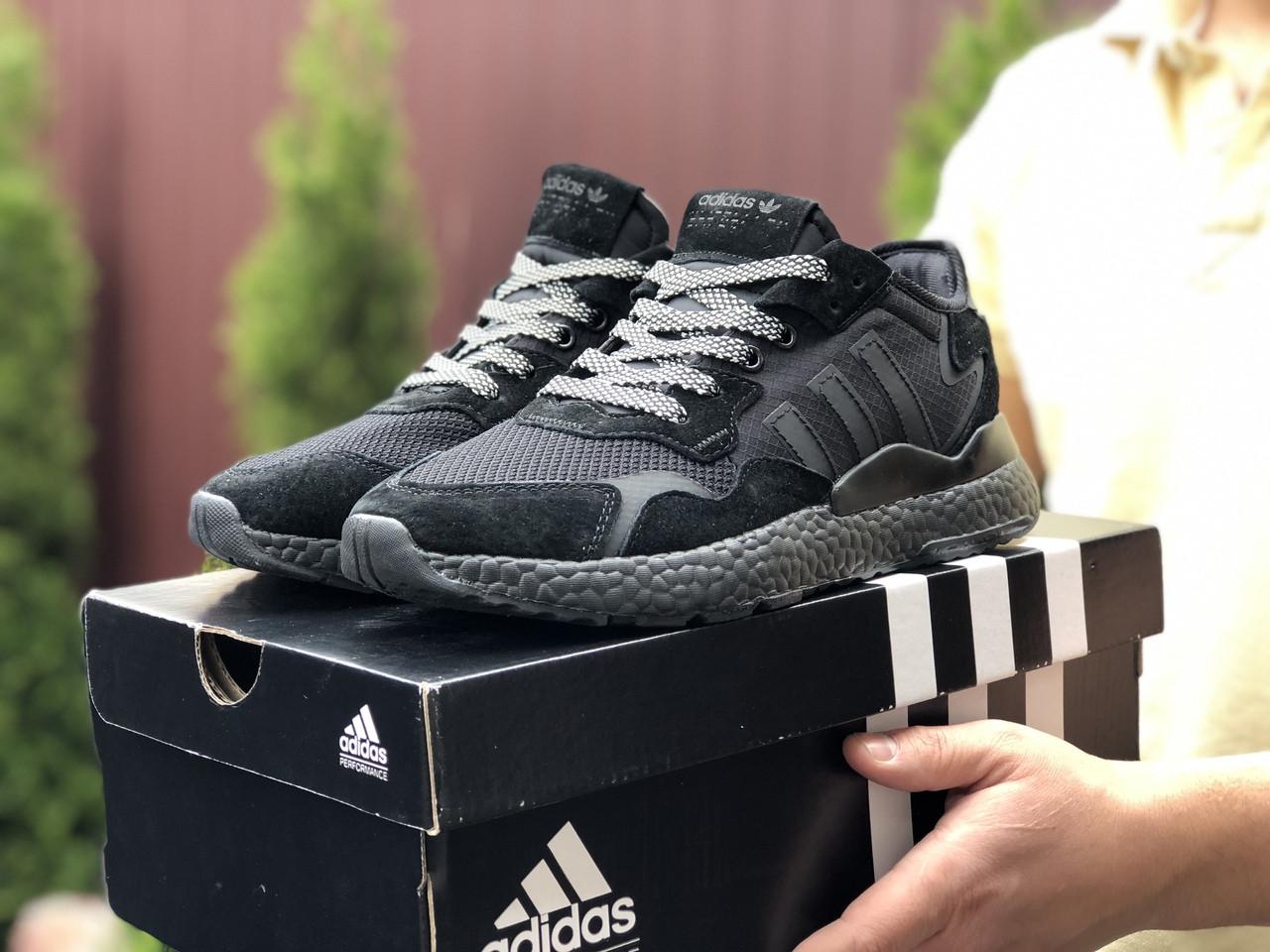 Мужские кроссовки Adidas Nite Jogger Boost 3M,черные