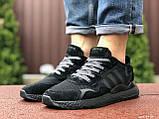 Мужские кроссовки Adidas Nite Jogger Boost 3M,черные, фото 3