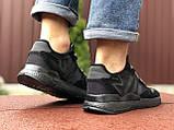 Мужские кроссовки Adidas Nite Jogger Boost 3M,черные, фото 4