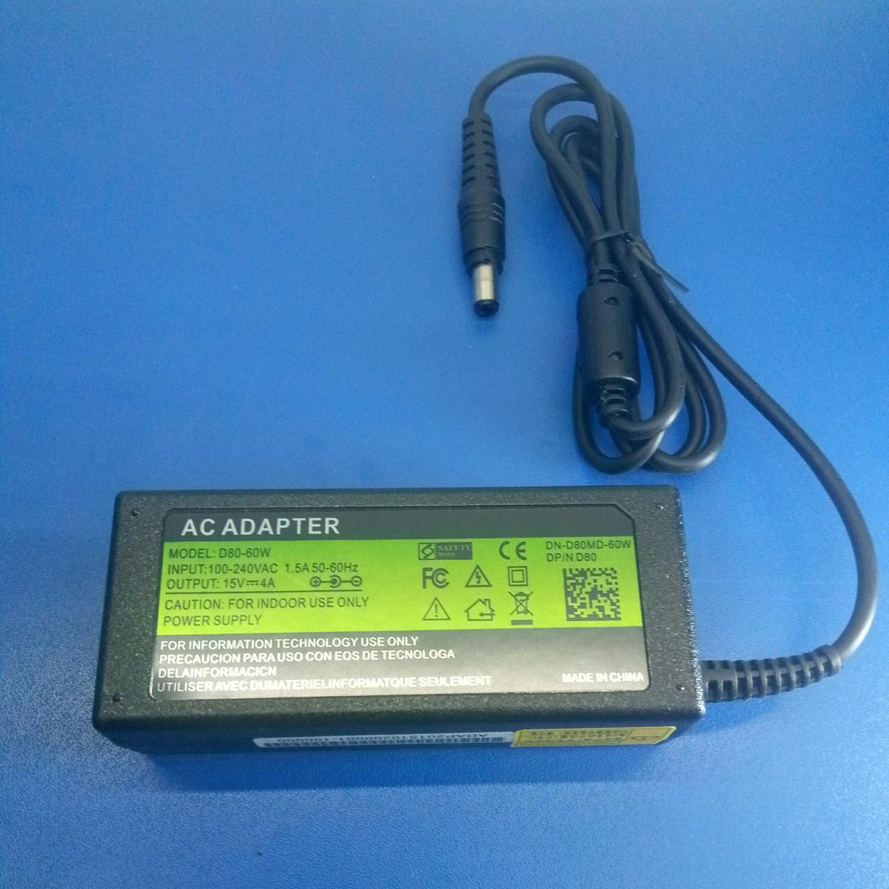 Зарядний пристрій Toshiba 15V4A 6.0*3.0 60W