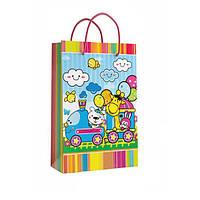 Детский подарочный пакет с ручками 47 х 33 x 9 см Кинда арт.11-06-1394