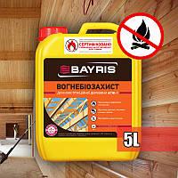 Огнебиозащита грунт для конструкционной древесины Байрис (АГНІ-1) (5л)