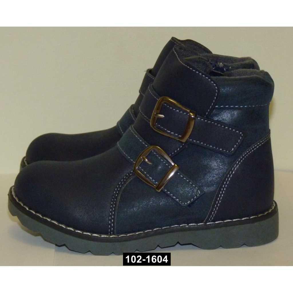 Демисезонные ботинки для мальчика, 29 размер, молния, липучка, 102-1604