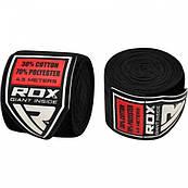 Бинти боксерські RDX Fibra Black 4.5m