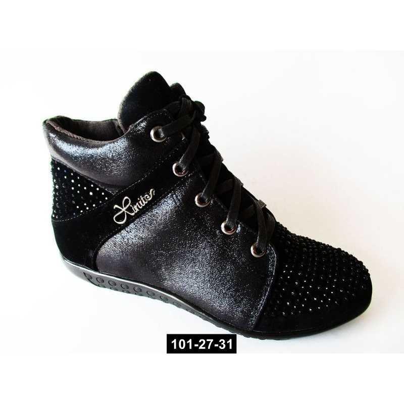 Стильные демисезонные ботинки для девочки, 33-34 размер, 101-27-31