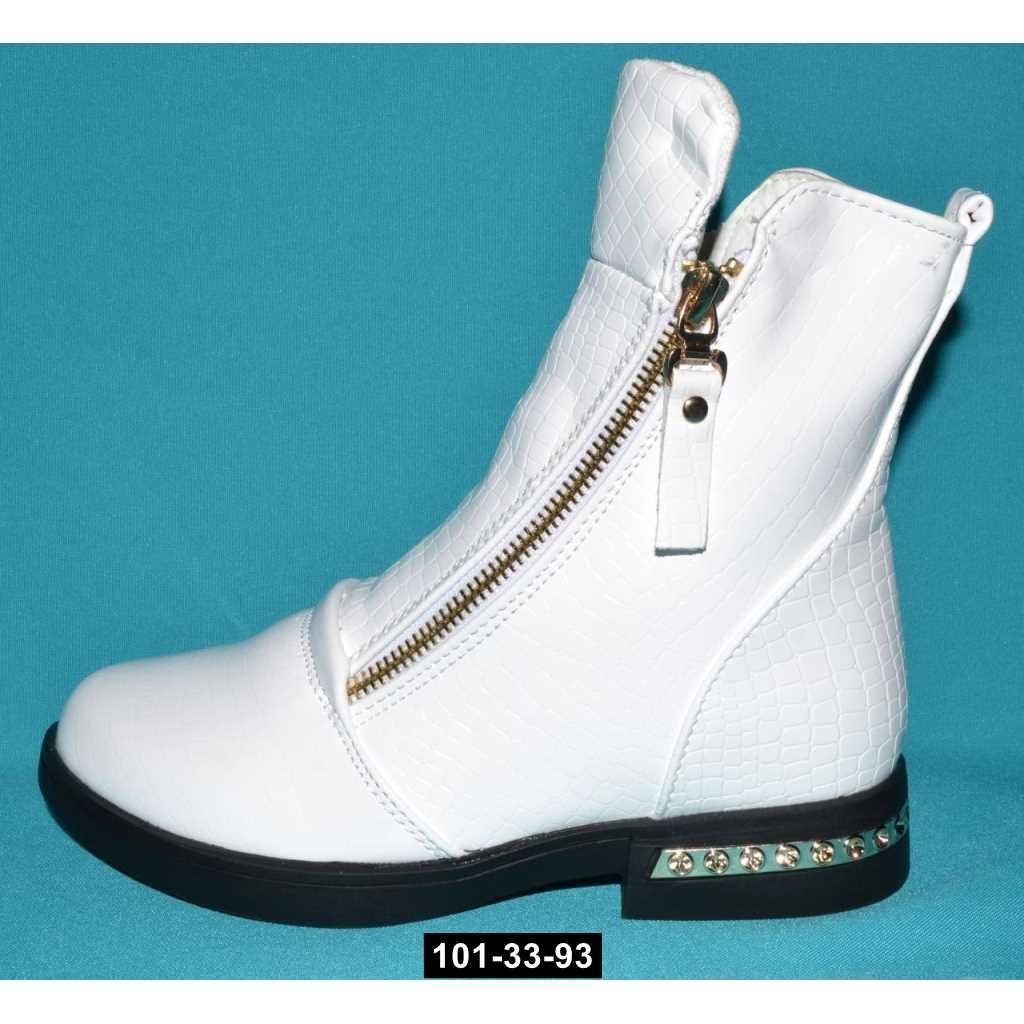Демисезонные ботинки для девочки, 37 размер, с двумя молниями, 101-33-93