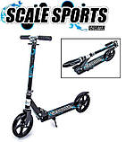 Двухколесный складной самокат Scale Sports Scooter 460, Черно-синий, фото 5