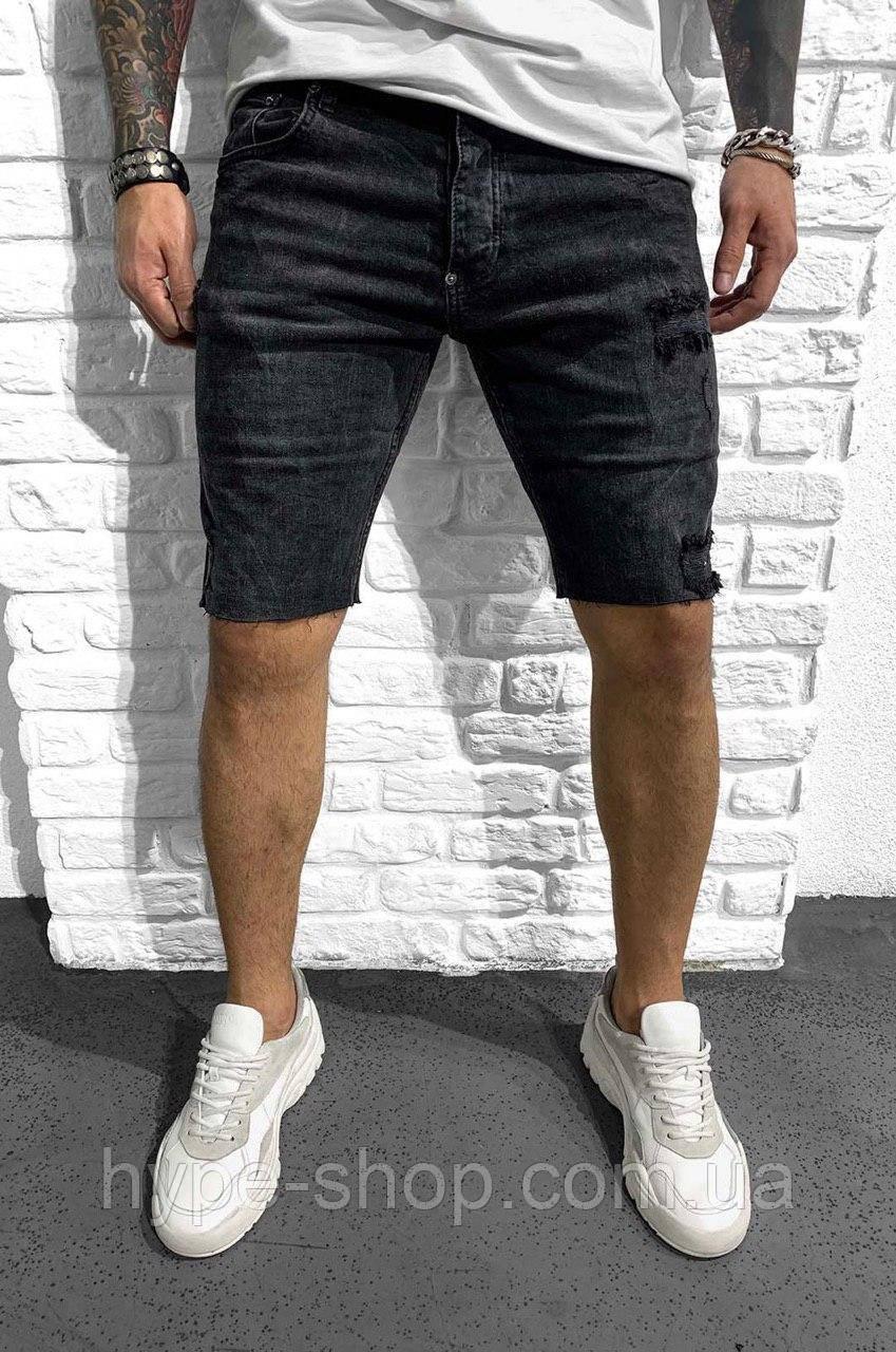 Чоловічі джинсові шорти чорні