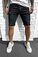 Чоловічі джинсові шорти чорні, фото 1
