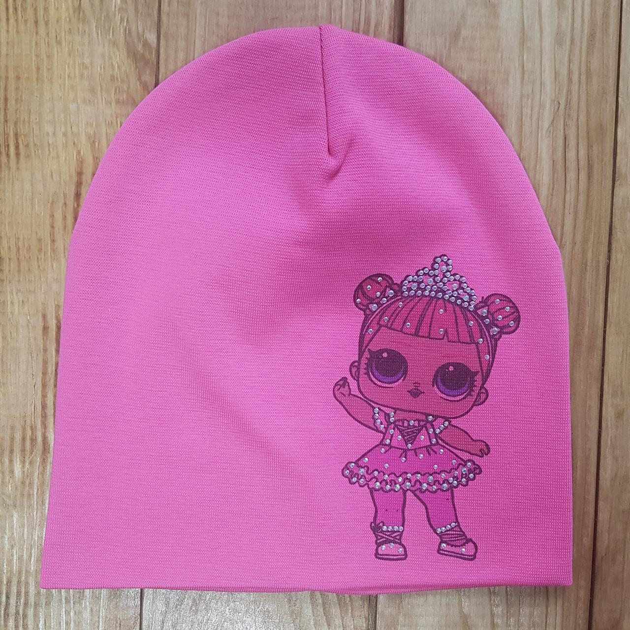 """Шапочка для дівчинки """"Лола"""", колір: рожевий"""
