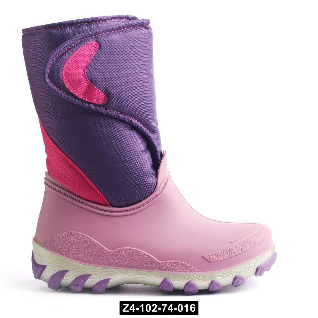 Сноубутсы, зимние сапоги для девочки, 27-35 размер, непромокающие, Z4-102-74-016