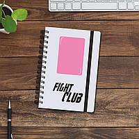 Блокнот-записник/скетчбук з абстрактним малюнком у 9-и кольорах. Білий Fight Club
