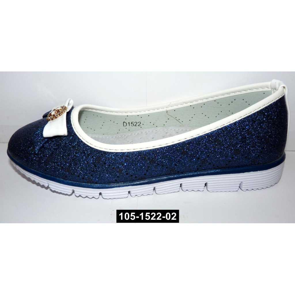 Нарядные облегченные туфли для девочки, 32,34 размер, школьные, кожаная стелька, супинатор, 105-1522-02