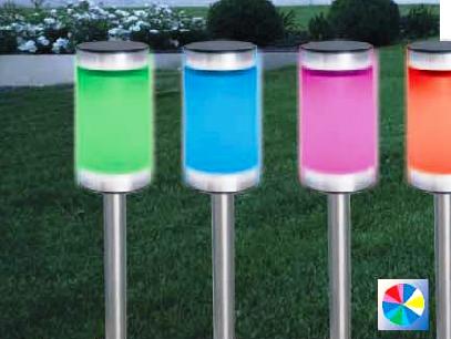 SORA Набор из 4-х цветных фонарей уличный солярный (IP44)