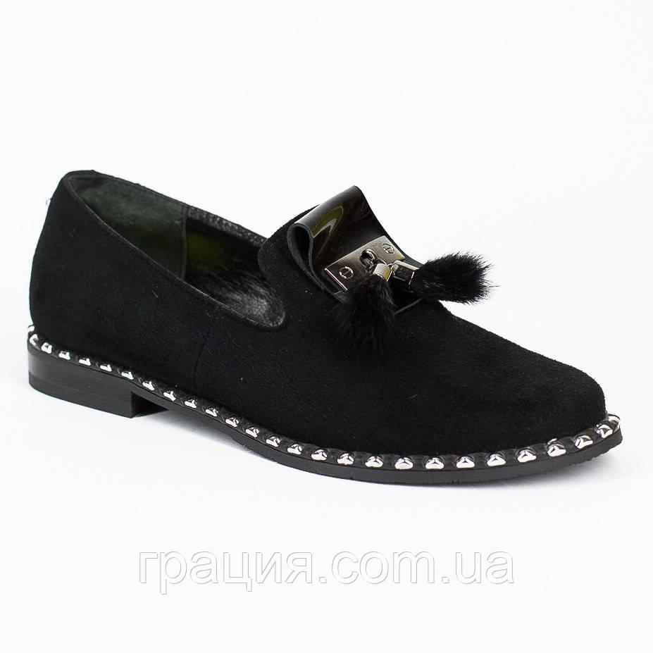 Элегантные замшевые женские туфли