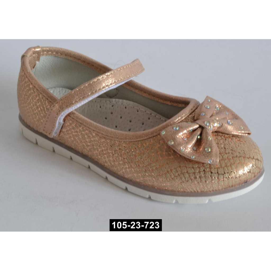 Нарядные туфли для девочки, 28 размер, кожаная стелька, супинатор, на выпускной, 105-23-723