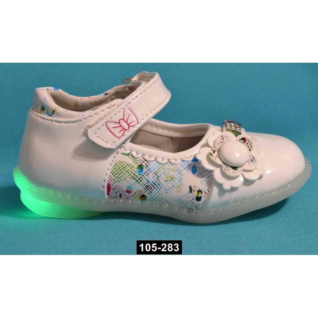 Светящиеся туфли для девочки, 22-25 размер,  супинатор, 105-283