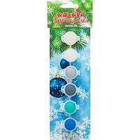 """Набір акрилових фарб для малювання """"Барви зими"""", 6 кольорів з перламутровим ефектом Идейка 98105"""