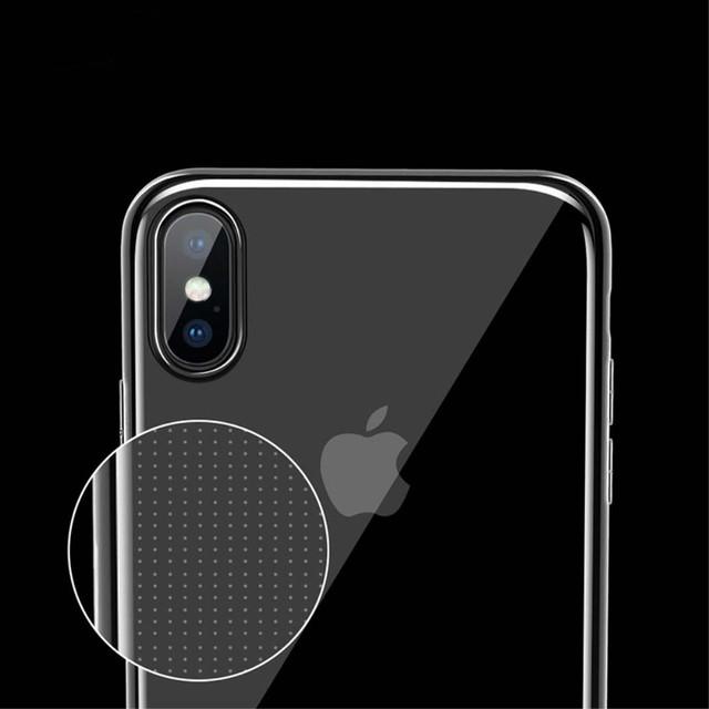 Прозрачный силиконовый чехол ультратонкий для Iphone X
