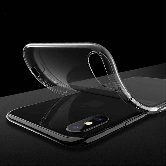 Прозрачный силиконовый чехол ультратонкий для Iphone X - 1