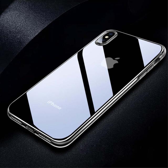 Прозрачный силиконовый чехол ультратонкий для Iphone X - 2