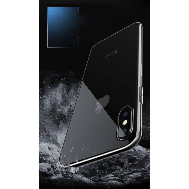 Прозрачный силиконовый чехол ультратонкий для Iphone X - 3