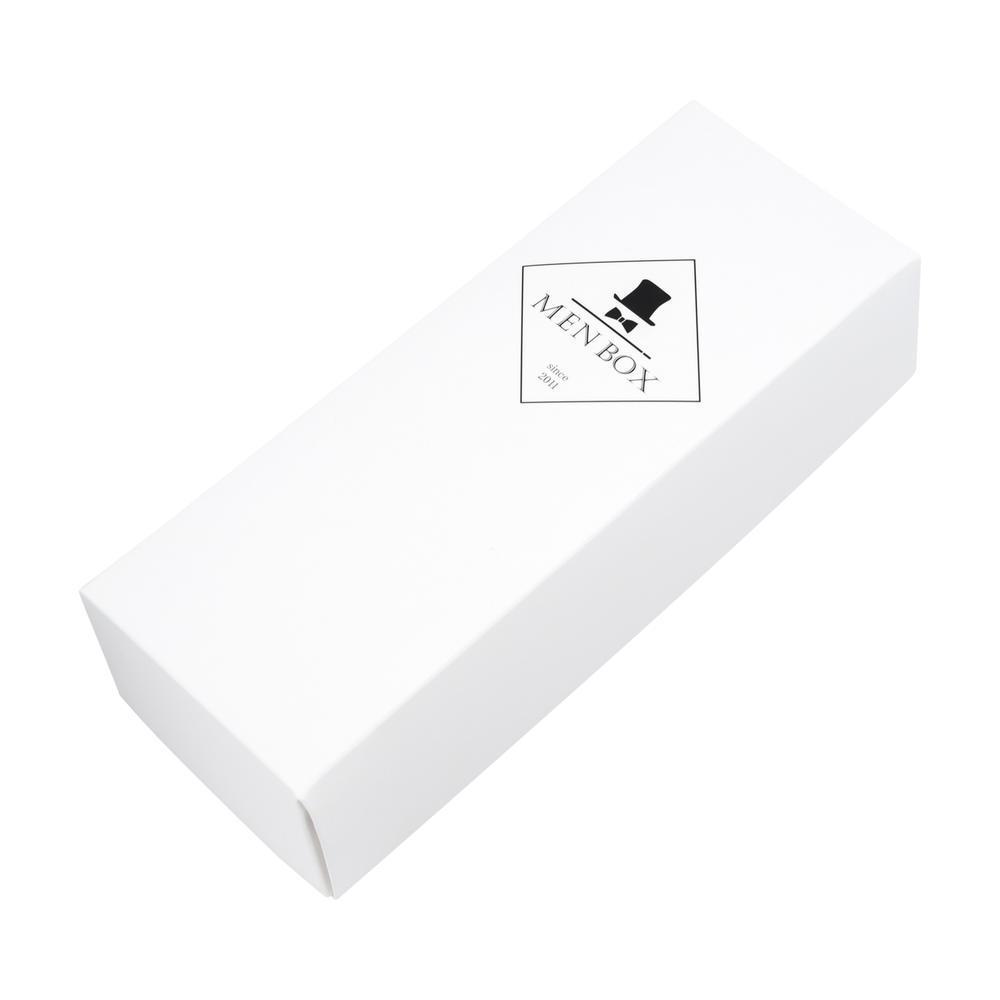 Подарочная коробка белого цвета MenBox