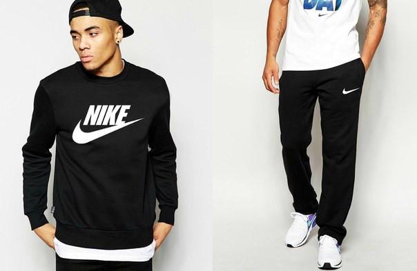 Мужской спортивный костюм Nike Sportweare черного цвета