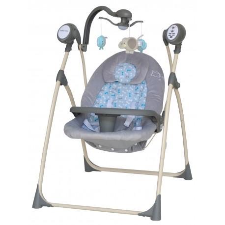Кресло-качалка для детей весом до 9 кг Baby Mix SW102RC с регулируемой спинкой