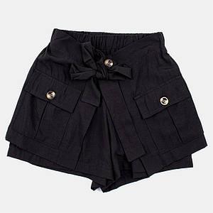 Шорты для девочек Mimcar 120  чёрные 2001076