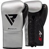 Боксерські рукавички RDX Leather Pro A3 Silver 10 ун.