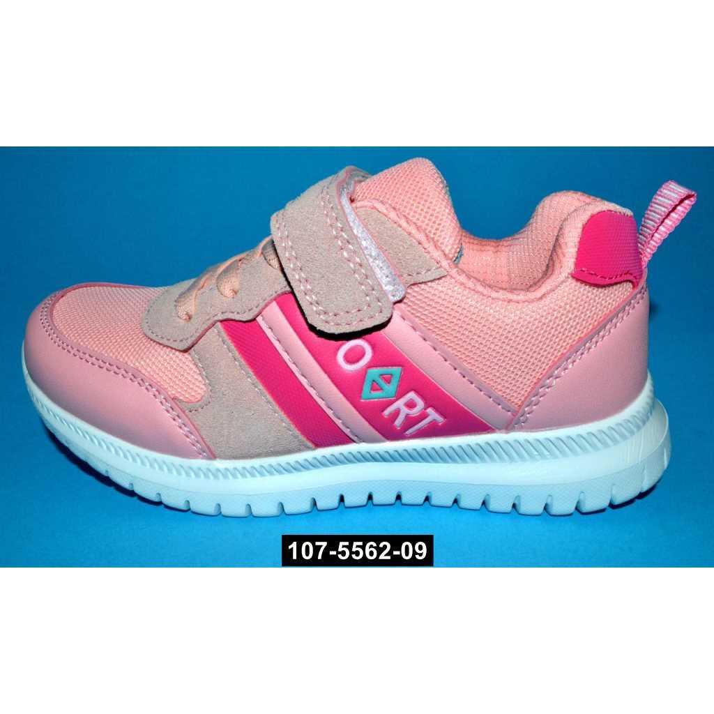 Дышащие кроссовки для девочки Tom.m, 31 размер / 20.3 см, кожаная стелька, супинатор, 107-5562-09